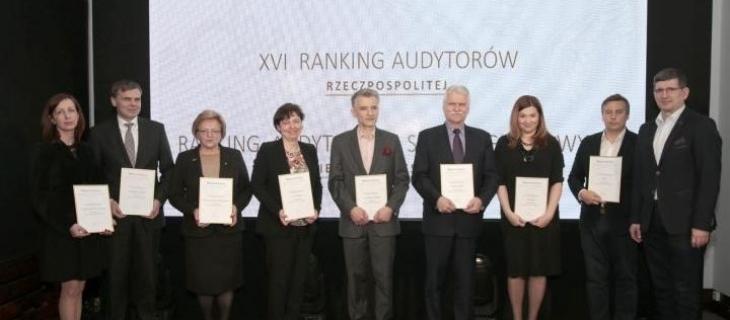 Wyróżnienie w rankingu audytorów